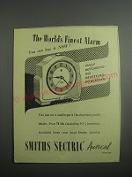 1948 Smith's Sectric Autocal Alarm Clock Ad - The world's finest alarm