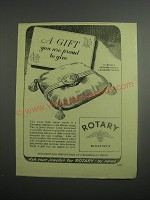 1948 Rotary Watches Ad - A gift you are proud to give