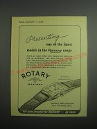 1948 Rotary Watches Ad - Presenting one of the latest models in the Rotary range