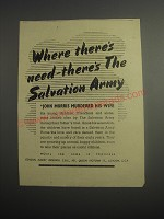 1948 Salvation Army Ad - John Morris Murdered his Wife