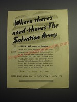 1948 Salvation Army Ad - Laura Lane came to London