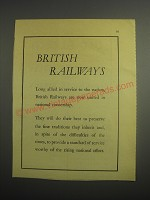 1948 British Railways Ad - British railways