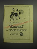 1948 NCR National Adding Machines Ad - It's whitehall for ministries.