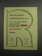 1948 Roneo Neopost Franking Machines Ad - When the post-girl's looking harassed