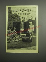 1948 Ransomes Lawn Mowers Ad - Garden Lovers Guide!