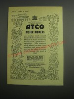 1948 Atco Motor Mowers Ad - Mowers are earning much needed Foodstuffs