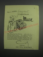 1948 Coty Muse Perfume Ad - For a merry fragrant Christmas.