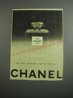 1948 Chanel No. 5 Perfume Ad - The most treasured name in perfume