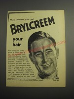 1948 Brylcreem Hair Dressing Ad - Make smartness your goal Brylcreem Your hair