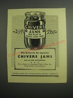 1948 Chivers Jams Ad - The favourite for tea-time