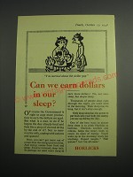1948 Horlicks Drink Ad - Can we earn dollars in our sleep?