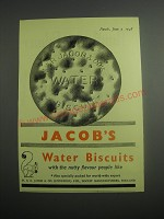 1948 Jacob's Water Biscuits Ad - Jackob's Water Biscuits with the nutty flavour