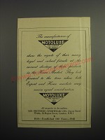 1948 Motoluxe Fur Coats Ad - The manufacturers of Motoluxe