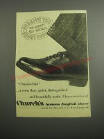 1948 Church's Chamberlain Shoes Ad - Forgive the short supplies we export