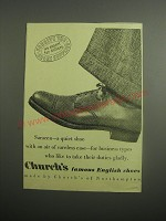 1948 Church's Saracen Shoes Ad - Forgive the short supplies we export