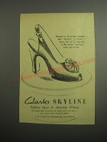 1948 Clarks Skyline Bandbox Shoes Ad - Straight out of fashion's bandbox steps