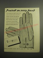 1948 Simpson Gloves Ad - Praised
