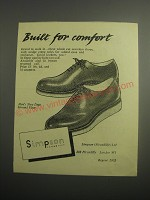 1948 Simpson Shoes Ad - Built for comfort