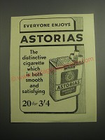 1948 State Express Astorias Cigarettes Ad - Everyone Enjoys Astorias
