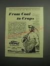 1948 Ford Cars Ad - From coal to crops