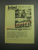 1948 Leyland Diesel Buses and Lorries Ad - Britain can still make it