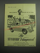 1948 Standard Vanguard Car Ad - Made in Britain Designed for the World