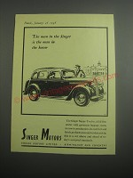 1948 Singer Super-Twelve Car Ad - The man in the Singer is the man in the know