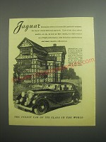 1948 Jaguar Cars Ad - Moreton Old Hall Near Congleton, Cheshire