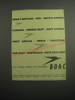 1948 BOAC British Overseas Airways Corporation Ad - It's a small world