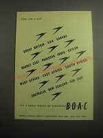 1948 BOAC British Overseas Airways Corporation Ad