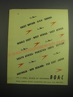1948 BOAC British Overseas Airways Corporation Ad - It's a small world by