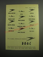 1948 BOAC British Overseas Airways Corporation Ad - small world by