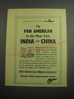 1948 Pan American World Airways Ad - Fly Pan American to the near east, India
