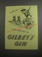 1948 Gilbey's Gin Ad - In Siam, too they're glad they've got Gilbey's Gin