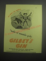 1948 Gilbey's Gin Ad - All over the world todo el mundo pide Gilbey's Gin