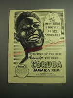 1948 Coruba Jamaica Rum Ad - The best rum is bottled in my country