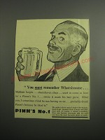 1948 Pimm's No. 1 Ad - You must remember Whatsisname