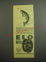 1948 ELO Fishing Reels Ad - Amongst the many record catches of Trout