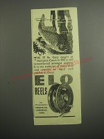 1948 ELO Fishing Reels Ad - The 37 lb. Carp caught at Hampton court in 1915