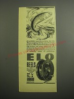 1948 ELO Fishing Reels Ad - Salmon records are many