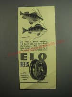 1948 ELO Fishing Reels Ad - In 1936 a Perch weighing 5 lbs. 4 3/4 ozs.