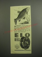 1948 ELO Fishing Reels Ad - Amongst record catches of Tench
