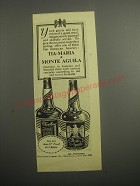 1948 Monte Aguila and Tia-Maria Liqueur Ad - Your guests will have enjoyed
