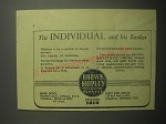 1948 Brown, Shipley & Co Bank Ad - The individual and his banker