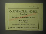 1948 British Railways Hotel Services Ad - Gleneagles Hotel Perthshire