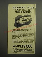 1948 Amplivox Hearing Aid Ad - Hearing aids smaller still - yet more powerful