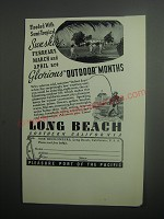 1937 Long Beach Southern California Ad - Flooded with semi-tropical sunshine