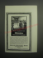 1937 Mellon National Bank Ad - Travel in comfort