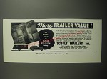 1937 Schult Trailers Ad - More trailer value