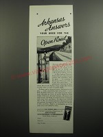 1937 Arkansas Centennial Commission Ad - Arkansas answers your urge